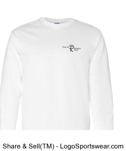 Youth Long Sleeve Shirt with Logo. Printing on two sides.  (Choose any color) Design Zoom