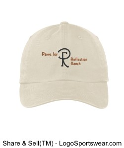 Ladies Stone Cap with Ranch Logo Design Zoom
