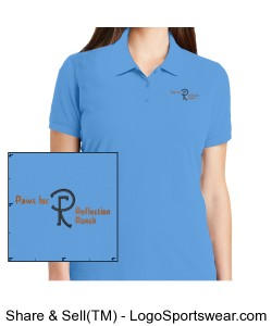 Port Authority Ladies EZCotton Polo Design Zoom