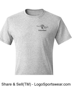 Adult VOLUNTEER T-Shirt. Printing on two sides.  (Choose any color) Design Zoom