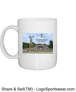 Paws for Reflection Ranch Mug with Logo on Back Design Zoom