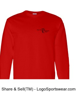 Adult Long Sleeve Shirt with Logo.  Printing on two sides.  (Choose any color) Design Zoom