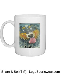 Austin Caricature Mug with Ranch Logo on Back Design Zoom