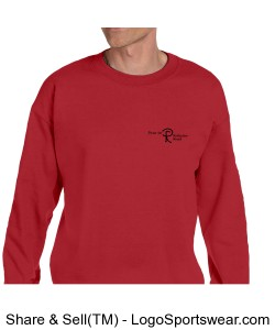 Adult Sweatshirt with printing on two sides. (Choose any color) Design Zoom